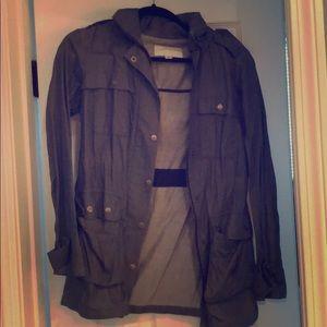 Denim colored bomber jacket from banana republic